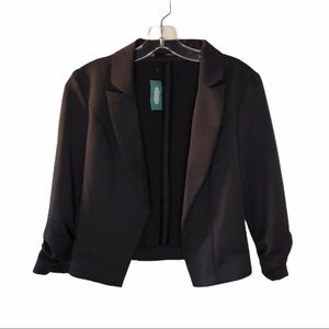 NWT Maurices Open Front Gray Blazer Sml